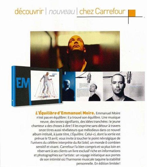Propaganda do Livro Especial L'Équilibre, de Emmanuel Moire - 2009