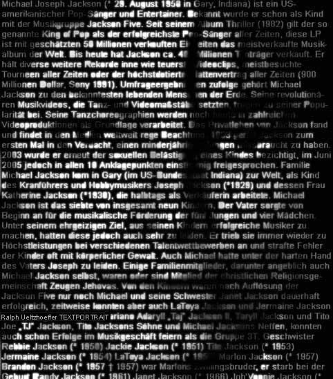 Michael Joseph Jackson (29/08/1958 - 25/06/2009)
