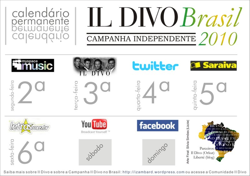 Il divo brasil hoje dia de facebook libert - Il divo website ...