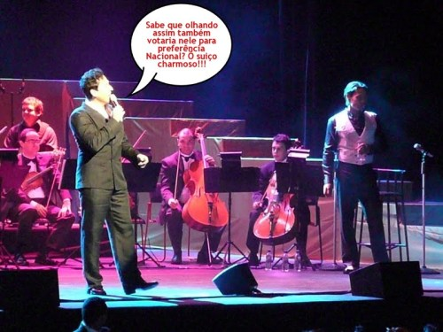 Foto de Mônica Liberato - show de Il Divo no Brasil - 27.10.2009