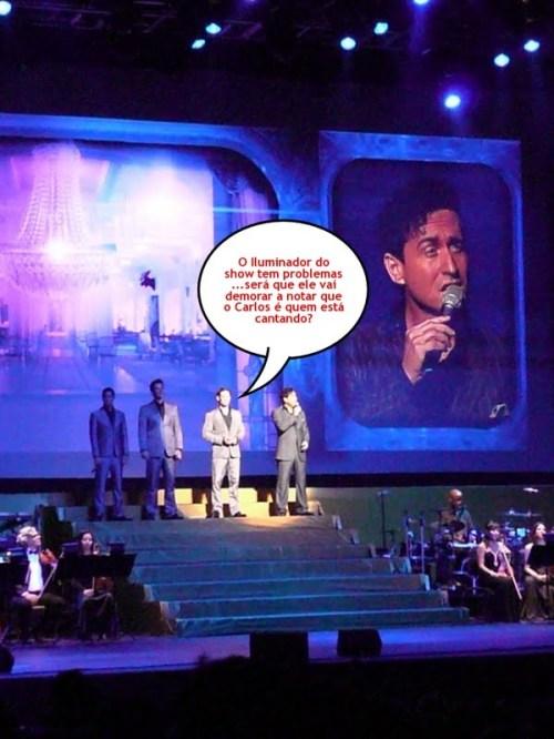 Foto por Mônica Liberato, no show do Il Divo no Brasil em 27 de outubro de 2009