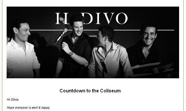 Il divo 2011 contagem regressiva para o concerto no - Il divo at the coliseum ...