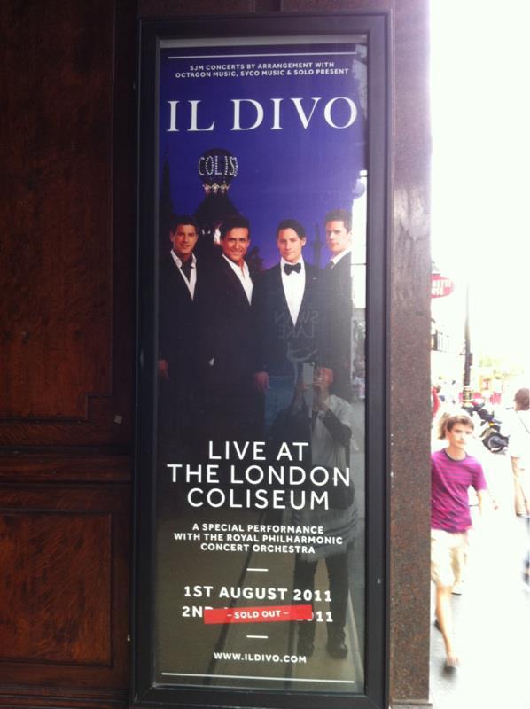 Diva mais noticias do show no coliseum - Il divo at the coliseum ...