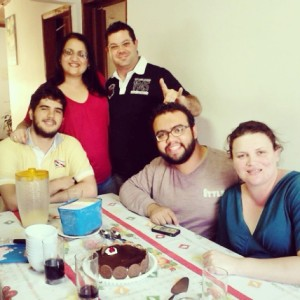 Breno, eu, Gustavo, Nei e Cinthia